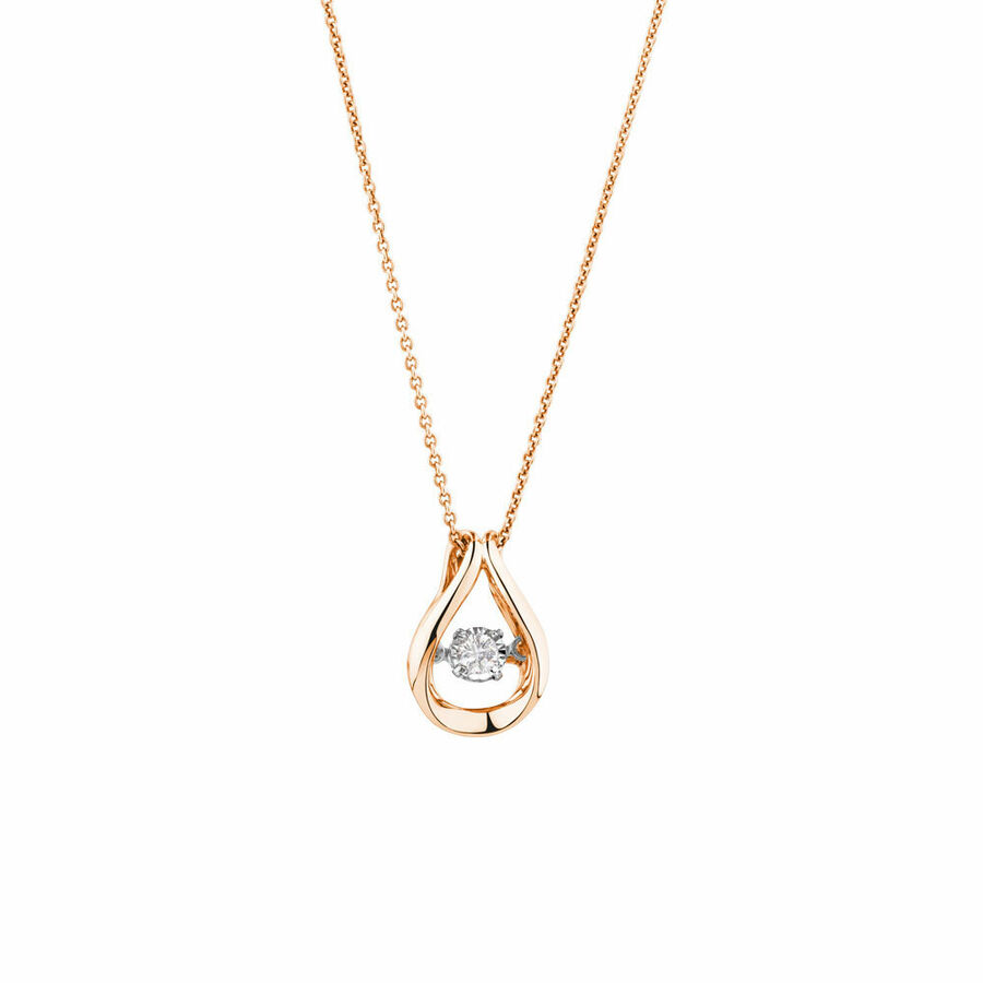 Everlight Pendant with a 0.30 Carat TW Diamond in 10kt Rose Gold