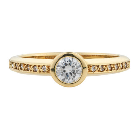 Online Exclusive - Engagement Ring with 0.40 Carat TW of Diamonds in 18kt Yellow Gold