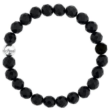 Bracelet with Black Onyx & Sterling Silver