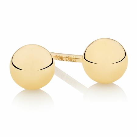 4mm Ball Stud Earrings in 10kt Yellow Gold