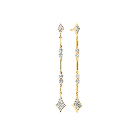 Drop Earrings with 0.16 Carat TW of Diamonds in 10kt Yellow Gold
