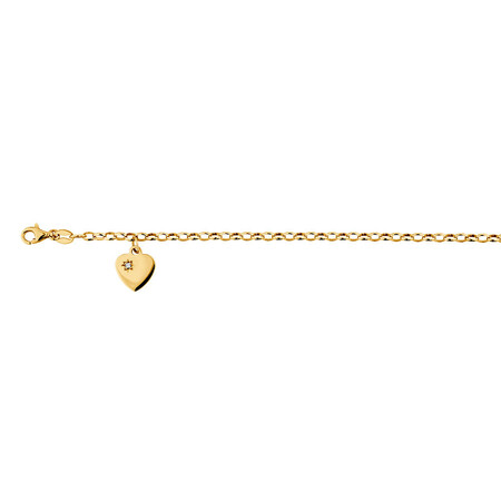 Diamond Set Belcher Bracelet in 10kt Yellow Gold