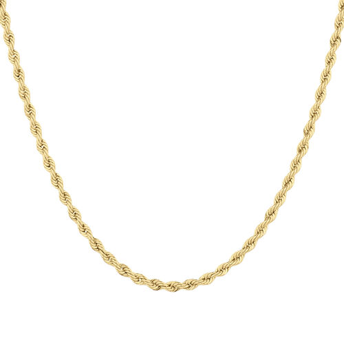 """55cm (22"""") Hollow Rope Chain in 10kt Yellow Gold"""