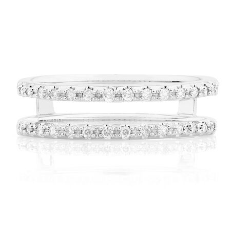 Enhancer Ring with 0.16 Carat TW of Diamonds in 14kt White Gold