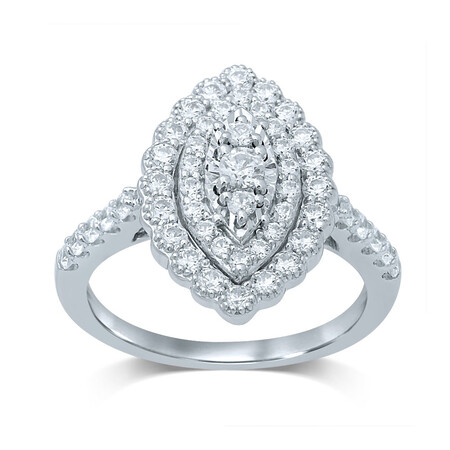 Ring with 1.00 Carat TW of Diamonds in 10kt White Gold