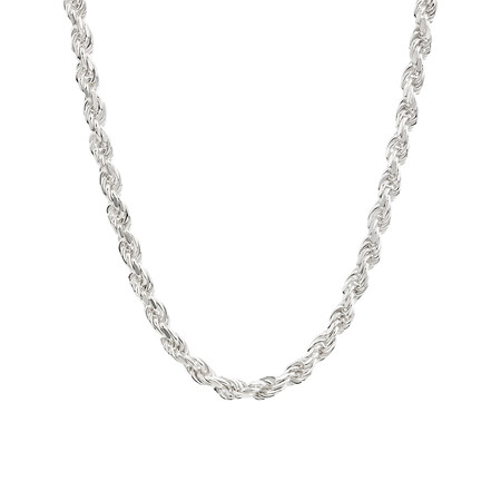 """45cm (18"""") Rope Chain in Sterling Silver"""