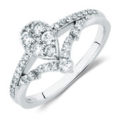 Engagement Ring With 0.45 Carat TW of Diamonds In 10kt White Gold