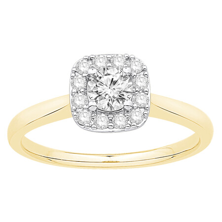 Ring with 0.53 Carat TW of Diamonds in 10kt Yellow & White Gold