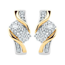 By My Side Earrings with 1/4 Carat TW of Diamonds in 10kt White & Yellow Gold
