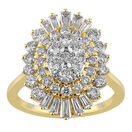 Cluster Ring with 2.00 Carat TW of Diamonds in 10kt Yellow Gold