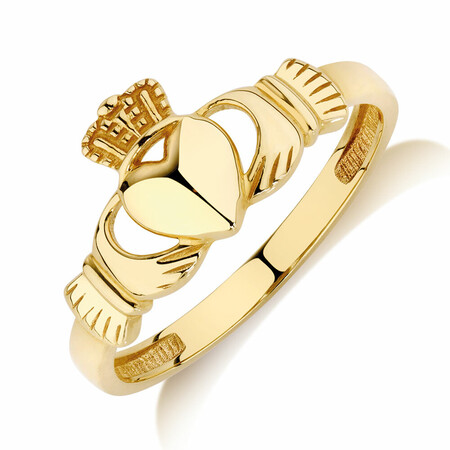 Claddagh Ring in 10kt Yellow Gold