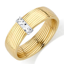 Patterned Ring in 10kt Yellow & White Gold