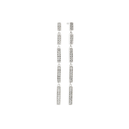 Drop Earrings with 0.16 Carat TW of Diamonds in 10kt White Gold