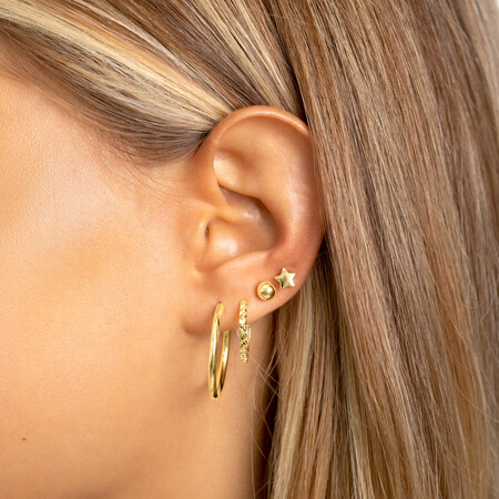 Star Stud Earrings in 10kt Yellow Gold