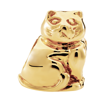 10kt Yellow Gold Cat Charm