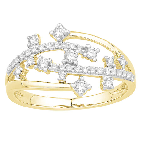 Ring with 0.40 Carat TW of Diamonds in 10kt Yellow Gold