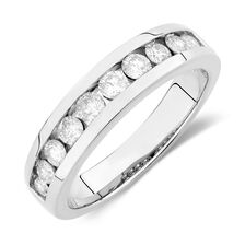 Men's Ring with 1 Carat TW of Diamonds in 14kt White Gold