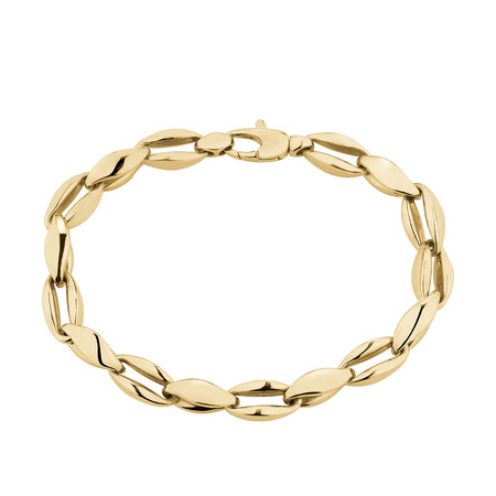 "19cm (7.5"") Cable Bracelet in 10kt Yellow Gold"