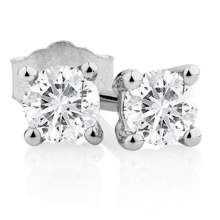 Classic Stud Earrings with 0.23 Carat TW of Diamonds in 10kt White Gold