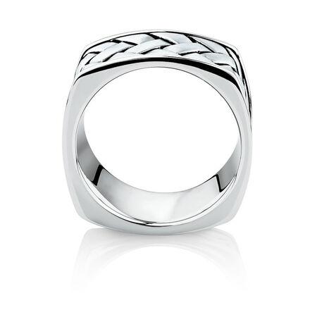 Men's Weave Pattern Ring in 925 Sterling Silver