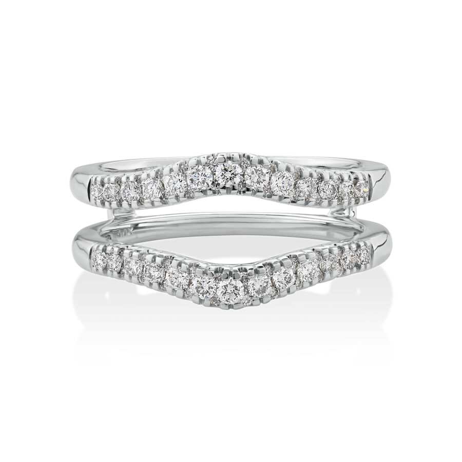 Evermore Ring Enhancer with 0.50 Carat TW of Diamonds in 14kt White Gold
