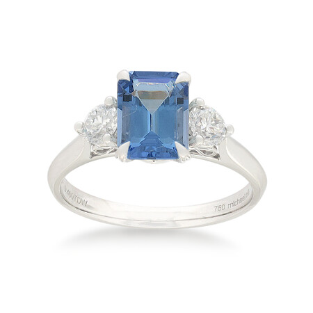 Ring with Tanzanite & 0.40 Carat TW of Diamonds in 10kt White Gold