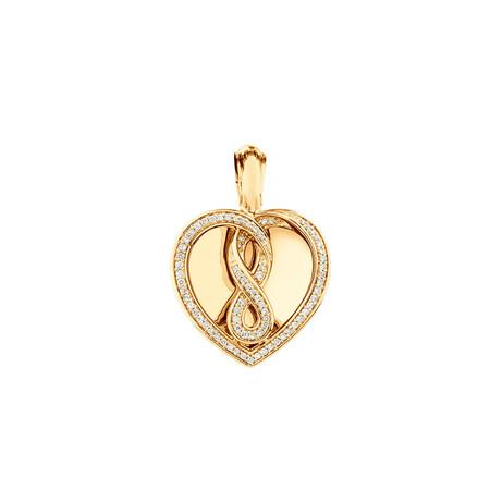 Infinitas Enhancer Pendant with 0.34 Carat TW of Diamonds in 10kt Yellow Gold