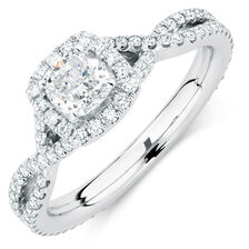Sir Michael Hill Designer GrandAdagio Engagement Ring with 1.18 Carat TW of Diamonds in 14kt White Gold