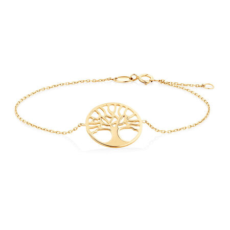 "19cm (7.5"") Tree of Life Bracelet in 10kt Yellow Gold"