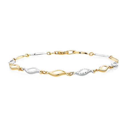 Bracelet in 10kt Yellow & White Gold