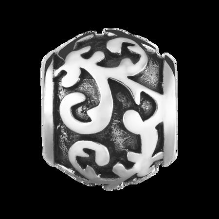 Sterling Silver Oxidized Filigree Charm