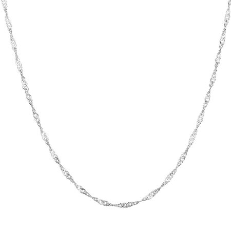 """50cm (20"""") Singapore Chain in Sterling Silver"""