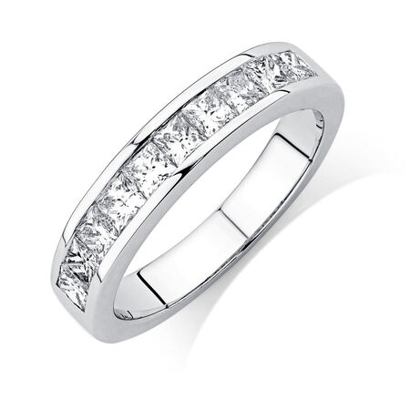 Wedding Band with 1 Carat TW of Diamonds in 18kt White Gold