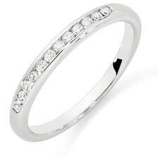 Wedding Band with 0.15 Carat TW of Diamonds in 10kt White Gold