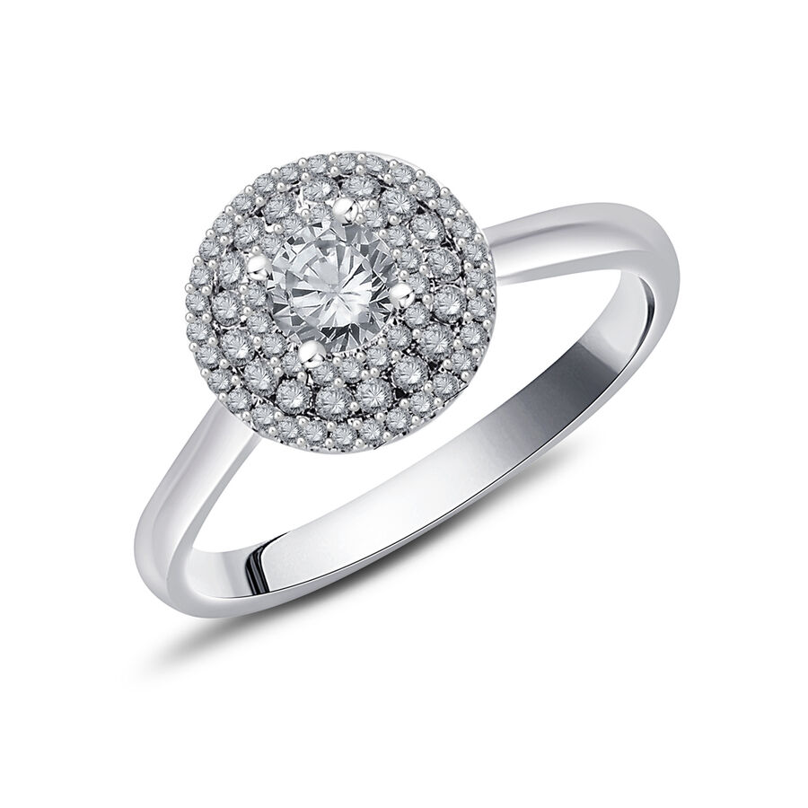 Ring with 0.59 Carat TW of Diamonds in 10kt White Gold