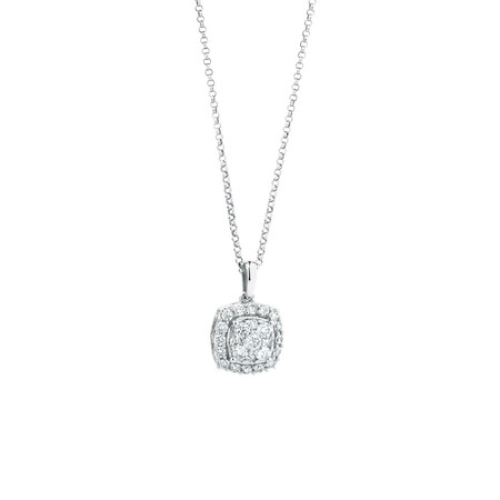 Pendant with 1 Carat TW of Diamonds in 10kt White Gold