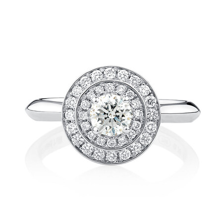 Whitefire Engagement Ring with 3/4 Carat TW of Diamonds in 18kt White & 22kt Yellow Gold