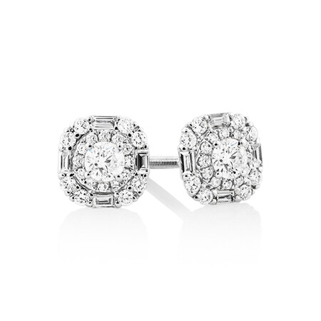Sir Michael Hill Designer Fashion Earrings with 0.45 Carat TW of Diamonds in 18kt White Gold