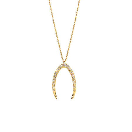 Large Mark Hill Pendant with 0.38 Carat TW of Diamonds in 10kt Yellow Gold