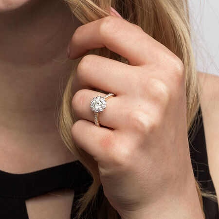 Southern Star Engagement Ring With 1.35 Carat TW Of Diamonds In 14kt Yellow & White Gold