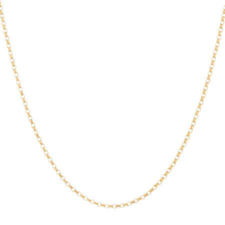 "45cm (18"") Solid Rolo Chain in 10kt Yellow Gold"