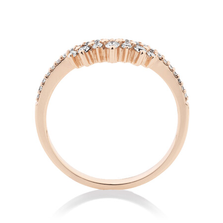 Evermore Wedding Band with 0.23 Carat TW of Diamonds in 10kt Rose Gold