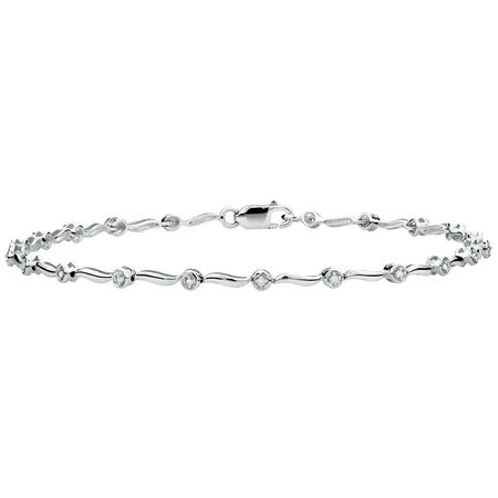 Tennis Bracelet with Diamonds in 10kt White Gold