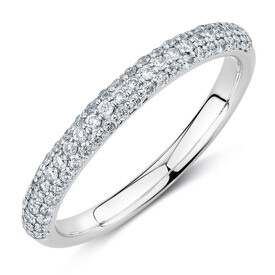 Evermore Colourless Wedding Band with 0.35 TW of Diamonds in 14kt White Gold