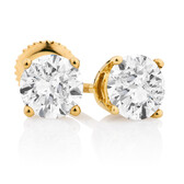 Classic Stud Earrings with 1.46 Carat TW of Diamonds in 14kt Yellow Gold