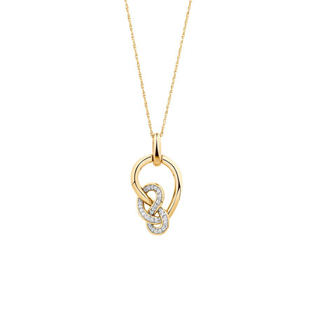 Small Knots Pendant with 0.13 Carat TW of Diamonds in 10kt Yellow Gold