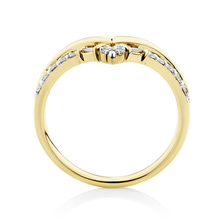 Chevron Ring with 0.25 Carat TW of Diamonds in 10kt Yellow Gold