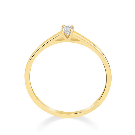 Promise Ring with Diamond in 10kt Yellow Gold