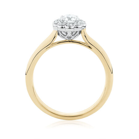 Southern Star Engagement Ring with 1/2 Carat TW of Diamonds in 14kt Yellow & White Gold
