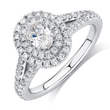 Sir Michael Hill Designer GrandArpeggio Engagement Ring with 1 1/2 Carat TW of Diamonds in 14kt White Gold